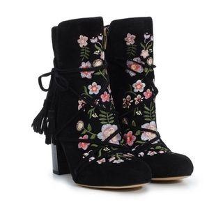 Sam Edelman Winnie boots, black suede 10